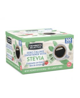 Member's Selection Zero Calorie Sweetener with Stevia 500 Count