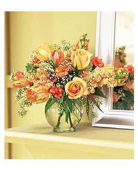 Merry Tangerine Floral Arrangement