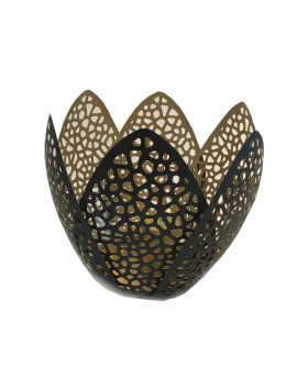Metal Caged Petal Design Candle Holder in Large