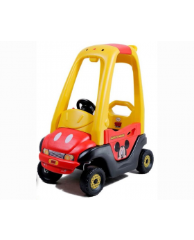 Mickey Mouse Yellow And Red Pedal Car