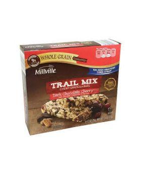 Millville Dark Chocolate Cherry Trail Mix Bars 6 bars