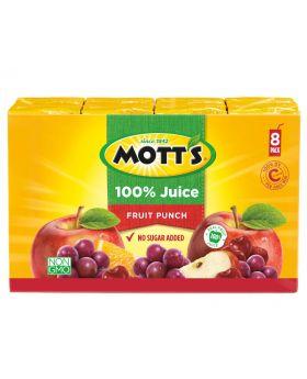 Mott's 100% Fruit Punch Juice 6.75 Fl.Oz 8 Pack