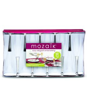 Mozaik Plastic Champagne Glasses 20 Piece Set