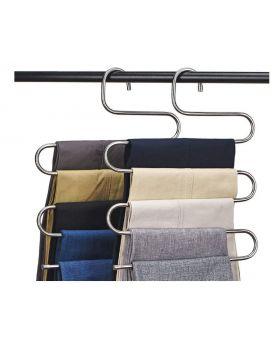 Multi-Purpose Pants Hanger 5 Layer Stainless Steel