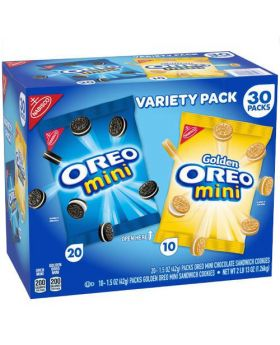 Nabisco Mini Oreo Variety 1.5 Oz. 30 Pack