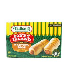 Nathan's Coney Island Beef Pretzel Dogs 4 Oz. 5 Pack