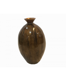 Neo Bubbly Modern Floor and Table Vase in Cocoa Brown
