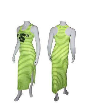 Neon Yellow Jamaican Hi - Low Dress