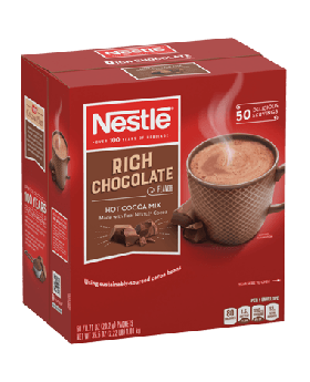 Nestlé Rich Chocolate Hot Cocoa Mix   50 x 0.71oz