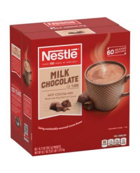 Nestlé Milk Chocolate Flavor Hot Cocoa Mix (60 x 0.71 oz packets)