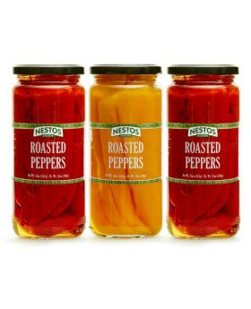 NESTOS Foods Red & Yellow Roasted Peppers 16 Oz. 3 Pack