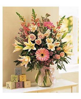 New Baby Girl Floral Arrangement