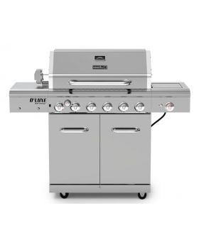 Nexgrill Deluxe 6 Burner Propane Gas Grill with Searing Side Burner & Rotisserie Kit