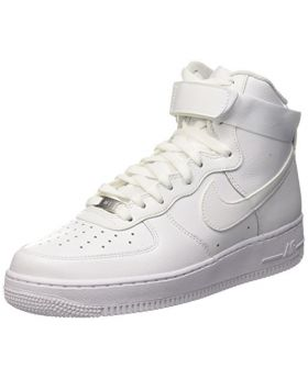 Nike Men's Air Force 1 High '07 Lv8 Mid-Top Canvas White Basketball Shoe Size 10