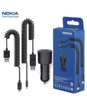 NOKIA USB Dual Car Charger with packaging