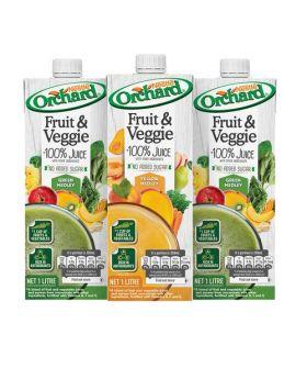 Orchard Fruit & Veggie 100% Juice 1 Litre 3 Pack