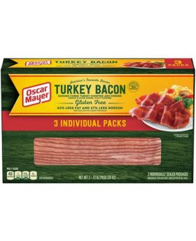 Oscar Mayer Turkey Bacon 3 x 12 Oz. Packs