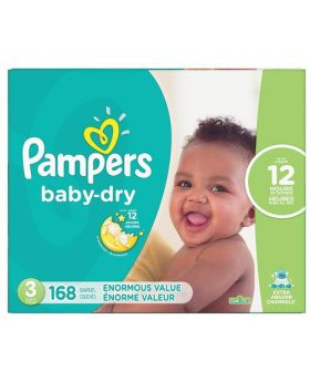 Pampers Baby Dry Diapers Size 3 168 Count