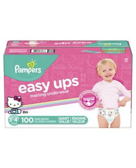 Pampers Easy Ups Girls' Training Underwear 3T-4T 100 Count
