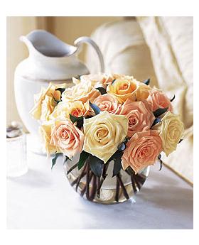 Pastel Rose Bubble Bowl Floral Arrangement