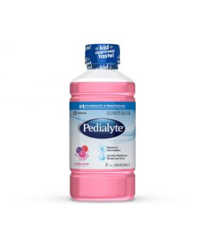 Pedialyte Classic Electrolyte Solution Bubble Gum Flavor 1 Litre