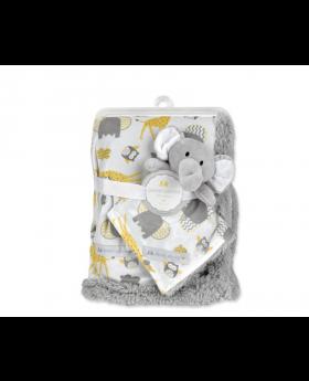 Petite L'amour Blanket & Crib Mate - Elephant
