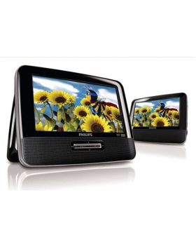 "Philips 7"" Dual Screen Portable DVD Player"