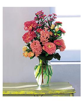 Pink Spring Bouquet Floral Arrangement