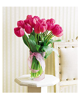 Pink Tulips Floral Arrangement