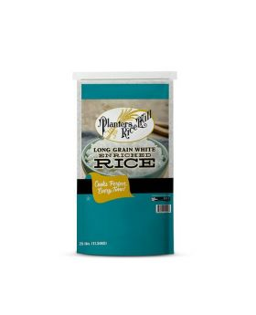 Planters Rice Mill Long Grain White Enriched Rice 25 lb