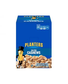 PLANTERS Salted Cashews, 1.5 oz. Bags (18 Pack) |