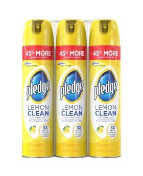 Pledge Lemon Clean Furniture Cleaner 14.2 Oz. 3 Pack