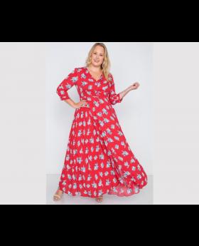 Plus Size Floral Button Down Maxi Dress