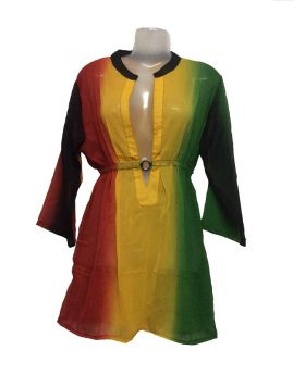 Polyester Georgette Cover Up 7112-Rasta
