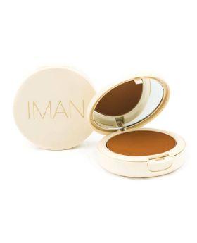 IMAN Oil-Blotting Pressed Powder, Dark