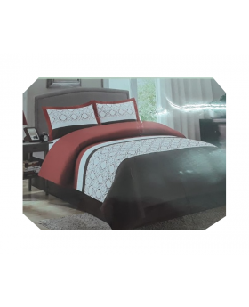 Private Collection 4 Pieces Full Comforter Set- Emboidery