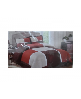 Private Collection 4 Pieces Full Comforter Set Filmon Red Patchwork