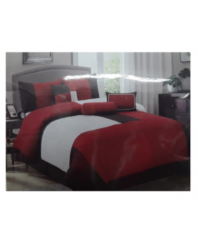 Private Collection 7 Pieces Queen Comforter Set- Quilted Patch