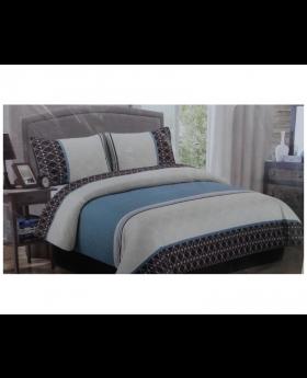 Private Collection 4 Pieces Comforter Set King Phyllis Aqua Blue