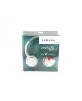 Profesional Talk Hi-Definition Wired Headset White