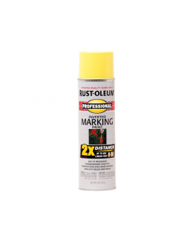 Professional Inverted Marking Spray Paint - High Visibility Yellow 2 Pack