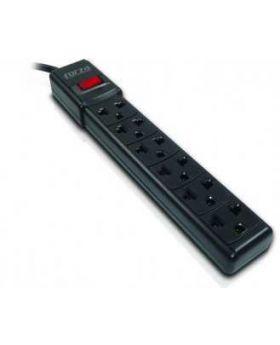 Forza power strip 6 outlets circuit breaker 110V US black