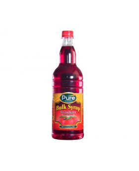 Pure Foods Bulk Syrup Strawberry 750ml