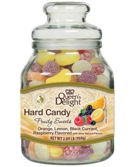 Queens Delight Hard Candy Fruit Sweets Jar 950g