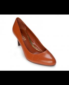 Ralph Lauren Women's Shoes Harper Polo Tan 6 Kidskin