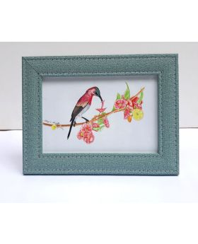 Red Humming Bird Creative Drawing Framed