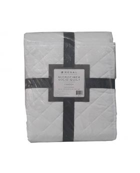 Regal Carson Microfiber Solid  Quilt Full/Queen