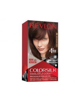 Revlon Colorsilk Beautiful Color, Permanent Hair Dye , 32 Dark Mahogany Brown