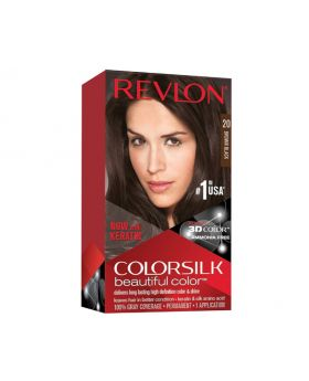 Revlon Colorsilk Beautiful Color, Permanent Hair Dye Brown/Brown  1 Pack