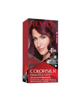 Revlon Colorsilk Beautiful Color, Permanent Hair Dye Deep Burgundy - 3 Pack